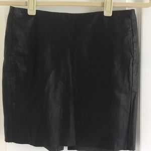 Muubaa  Leather Mini Skirt in Black